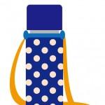 ショルダー水筒カバー手作り!保冷シートやマジックテープを使おう!