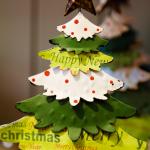 型紙を使ってクリスマスツリーを画用紙で手作りしよう!