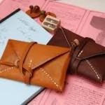 革で蛇腹のカードケースの簡単な作り方!