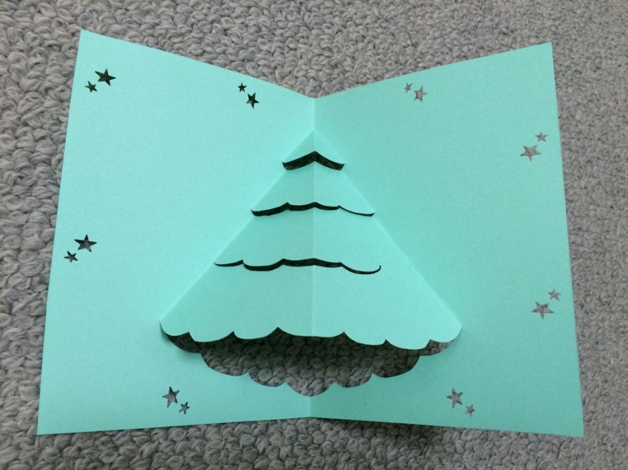 手作りクリスマスカードを彼氏 ...